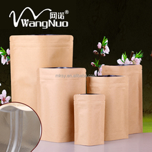 Custom Printed stand up foil zip lock seal bag with windows