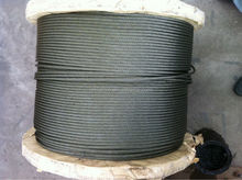 6x36 ungalvanized steel wire rope