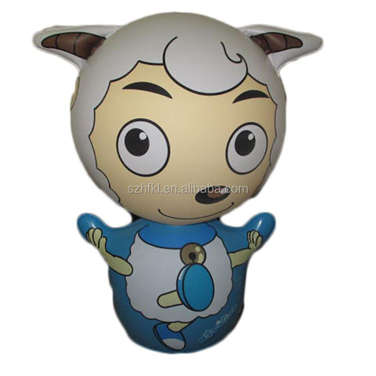 promotion pleasant goat and big big wolf inflatable cartoon tmbler