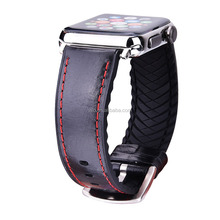 42mm Hot Selling Italian Genuine Leather Replacement Strap for Apple Watch Series 1 2 & 3, for Apple Watch Wristband Bracelet