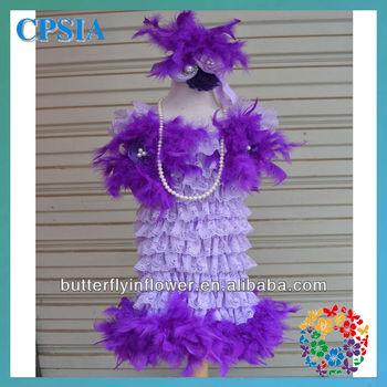 Vintage lace lavender dress