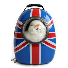 Space capsule shaped pet carrier breathable cat capsule backpack for outside Travel portable bag pet products