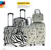 12inch 20inch 24inch Leopard and Cartoon Print Trolley Bags Luggage