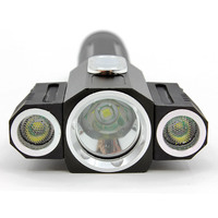X3 Multi Function Flashlight High Quality with Long Duration Three Light Designed High Power LED Torchlight with battery