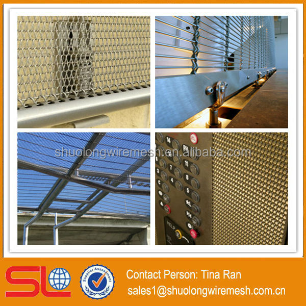 Hebei Shuolong Manufactory architectural Interior and Exterior stainless steel weave decorative wire mesh
