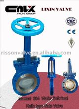 Manual 304 Wafer Soft Seal Knife type Gate Valve