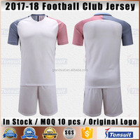 Sublimation quick dry football shirts men soccer club wear in good quality design your own team cheap soccer jersey set