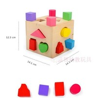 Diversified interesting learning 3 d graphics and colors, health education wood mold toy