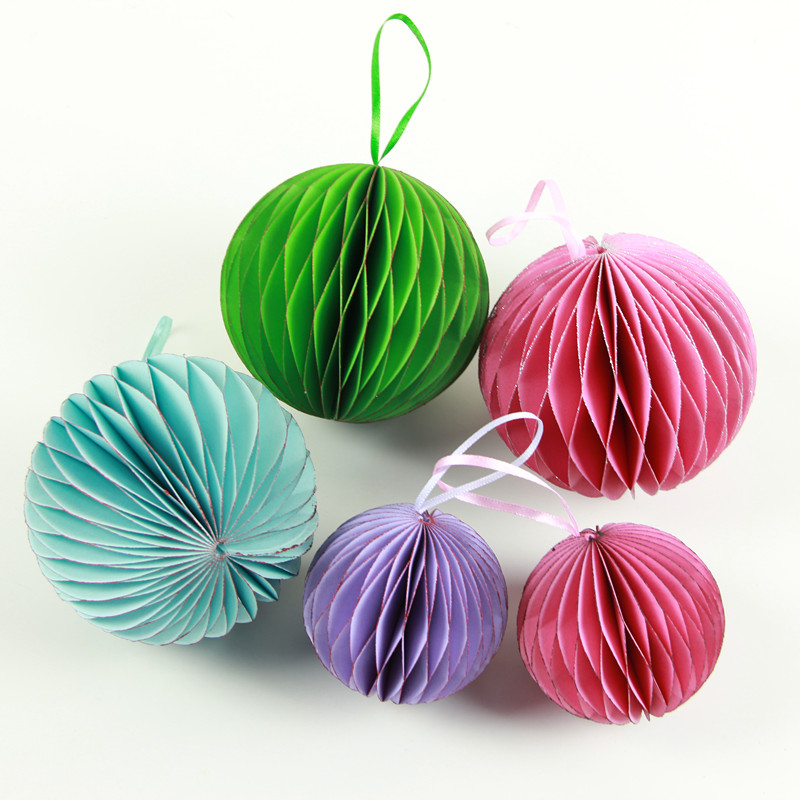 Tissue Paper Crafts Pom Poms Honeycomb Ball Drops for Party Wedding Valentine Decoration