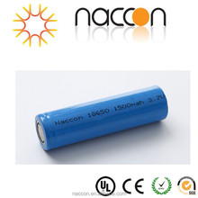 cylindrical rechargeable batteries 18650 3.7v 1500mah lithium battery 18650
