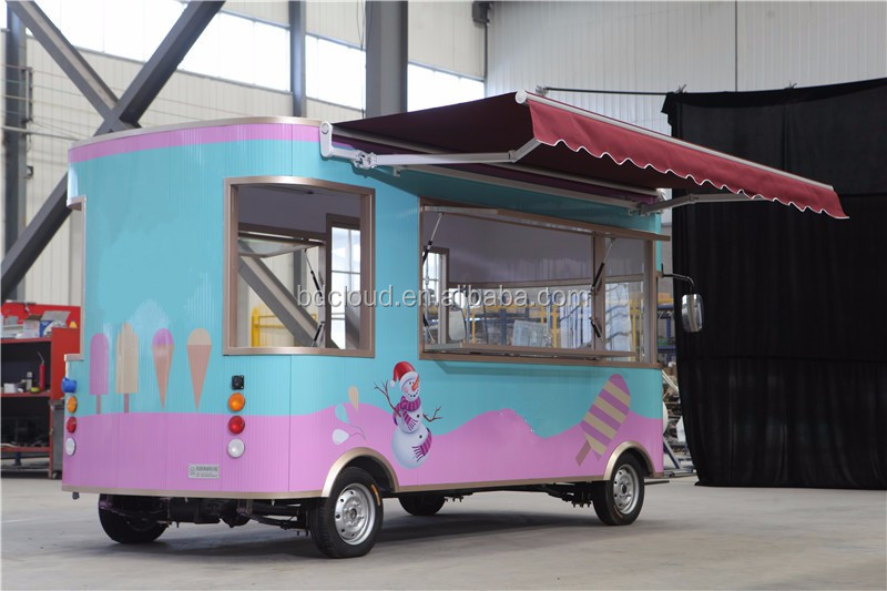 Mobile electric food carts/ ice cream carts / coffee carts
