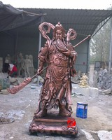 Chinese traditional figure guan gong in bronze for sale