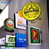 Outdoor plastic advertising sign acrylic round shape led vacuum forming light box