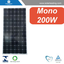 Factory directly 200w solar panel photovoltaics with silicon wafer solar cell for Mexico market