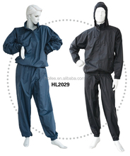 polyester/pvc sauna suit for weight lose