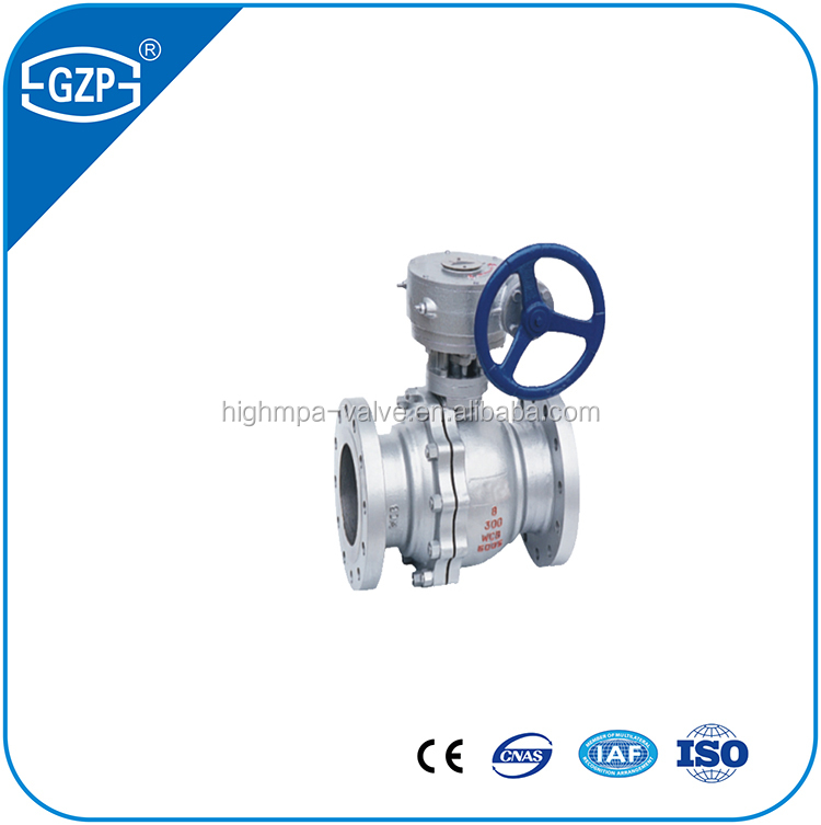 API Standard Material Flange End Trunnion Ball Valve with valve CAD drawing