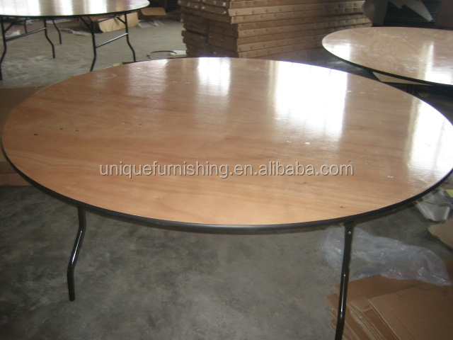Used restaurant round banquet folding tables for sale for Table retractable cuisine