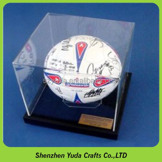 Football Soccer Display Cover Case Soccer Ball Acrylic Display Case