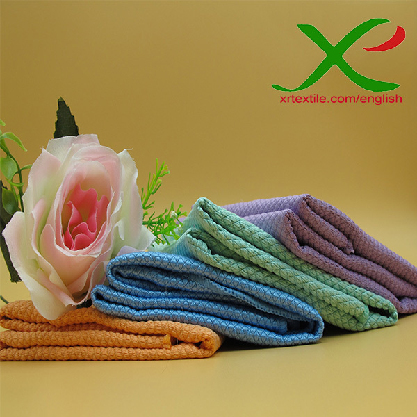 Knitted Soft microfiber lattice car cleaning cloth