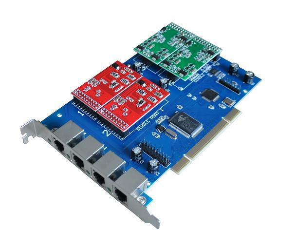 TDM400P TDM400E 4U Classis Digium PCI asterisk card with FXS/FXO Module on board