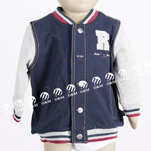 2017 autumn baby jacket with navy color