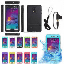 for Galaxy Note 4 Waterproof Case with Stand, Outdoor Durable Underwater Waterproof Case for Samsung galaxy Note 4