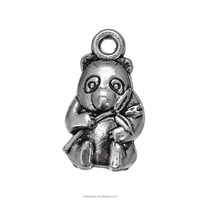 wholesale antique silver fashion lovely alloy animal panda charms