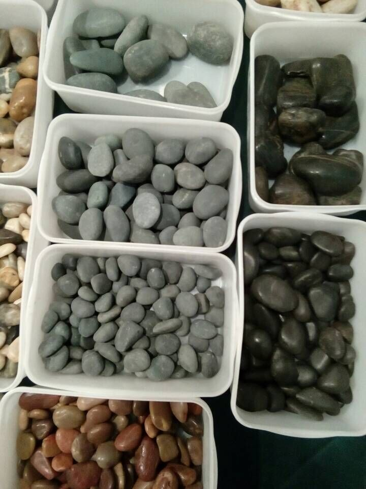 gray polished oval cobblestone