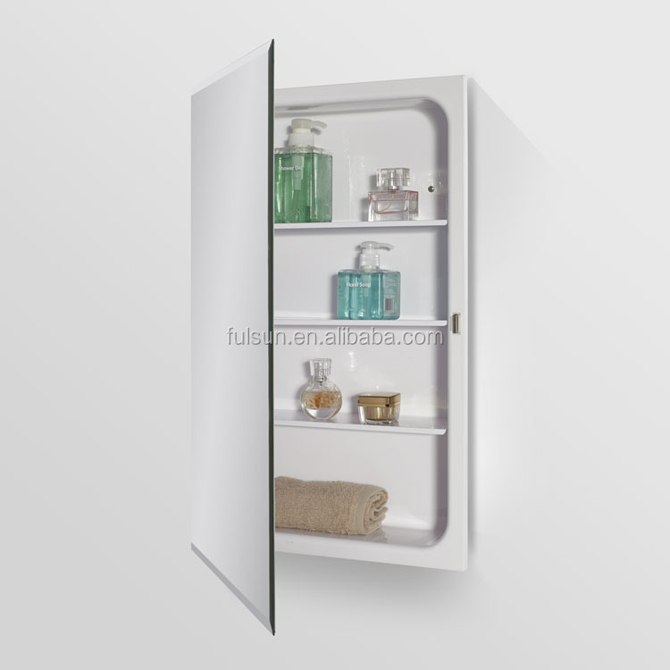 Recessed mount mirror medicine cabinet