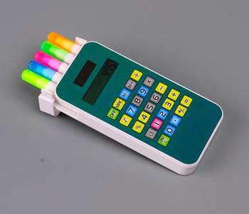 5 in 1 cell phone shape highlighter marker with calculator,gift set ,