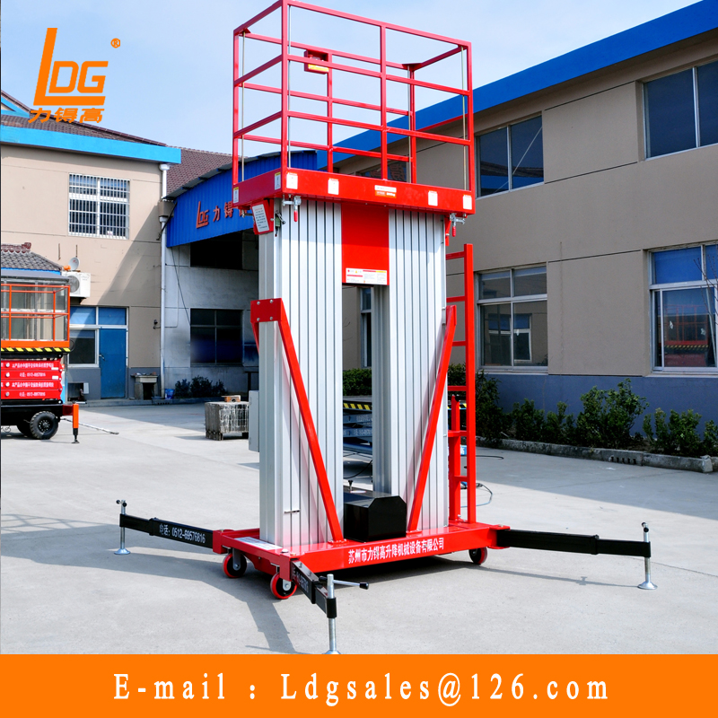 8 meter aluminium alloy aerial work platform price with GTWY 8-200S