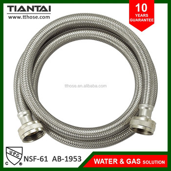 steel braided hose washing machine