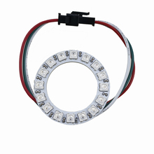 5v rgb round circle 16leds ws2812 5050 smd car flashing led light strip