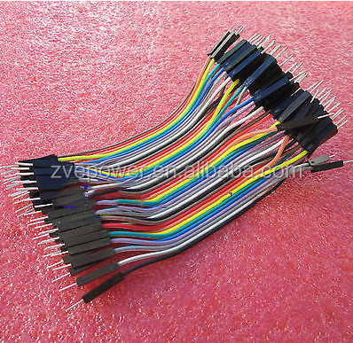 40PCS Dupont cables jumper wire 10cm 2.54MM male to male 1P-1P