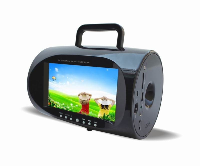 cheap car portable boombox dvd player with tv fm usb