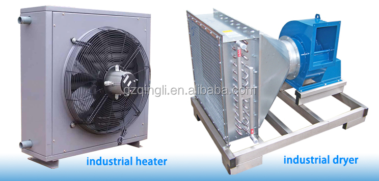 Thermal oil/hot water to air fin tube heater steam hot air exchanger