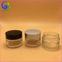 Glass Body Material and Aluminum Cap Material glass jar