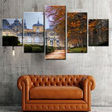 Dropship Unframed High Quality 5pcs modern landscape wall art for children room decoration