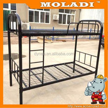 2015 modern fashionable lovely colorful MDF and metal material triple kids bunk bed with slide for home ,kindergarten use