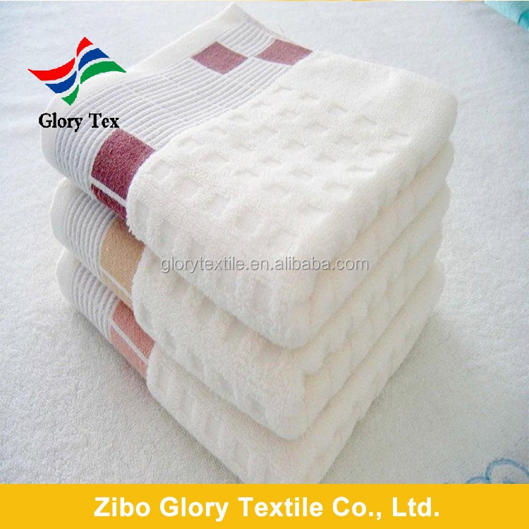 China factory Wholesale 100 % cotton dobby white bath towel
