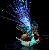 Princess masquerade butterfly LED lighted optical fiber MASK