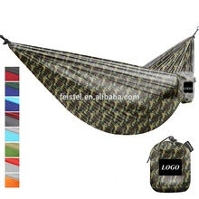 new design best sell high quality factory directly sales two color polyester fabric stitched outdoor camp hammock