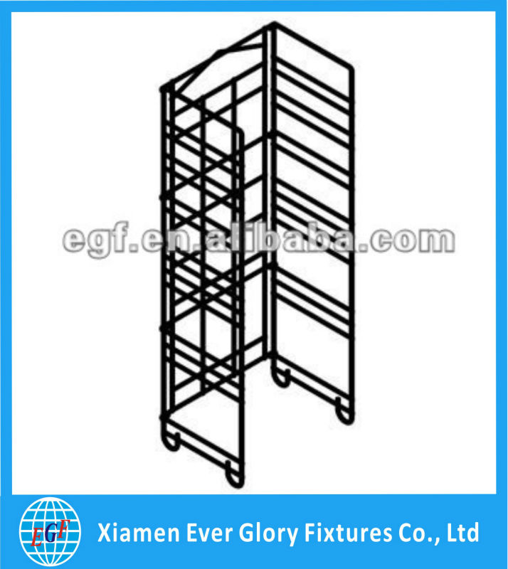4 Tier Adjustable Retail Metal Wire Display Rack with Sign Holder