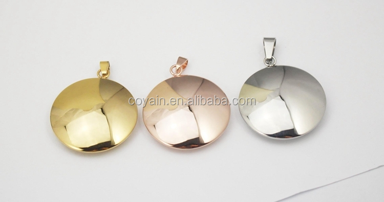 Silver/rose gold/gold filled charm engraved 18k gold filled charm wholesale for women