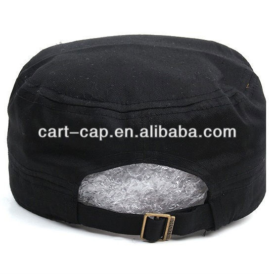 new trends black color washed cotton designer military hats