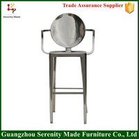 2016 hot sale outdoor furniture louis stainless steel base bar stool
