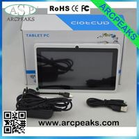 q88 7 inch arm mali-400 3d gpu tablet pc