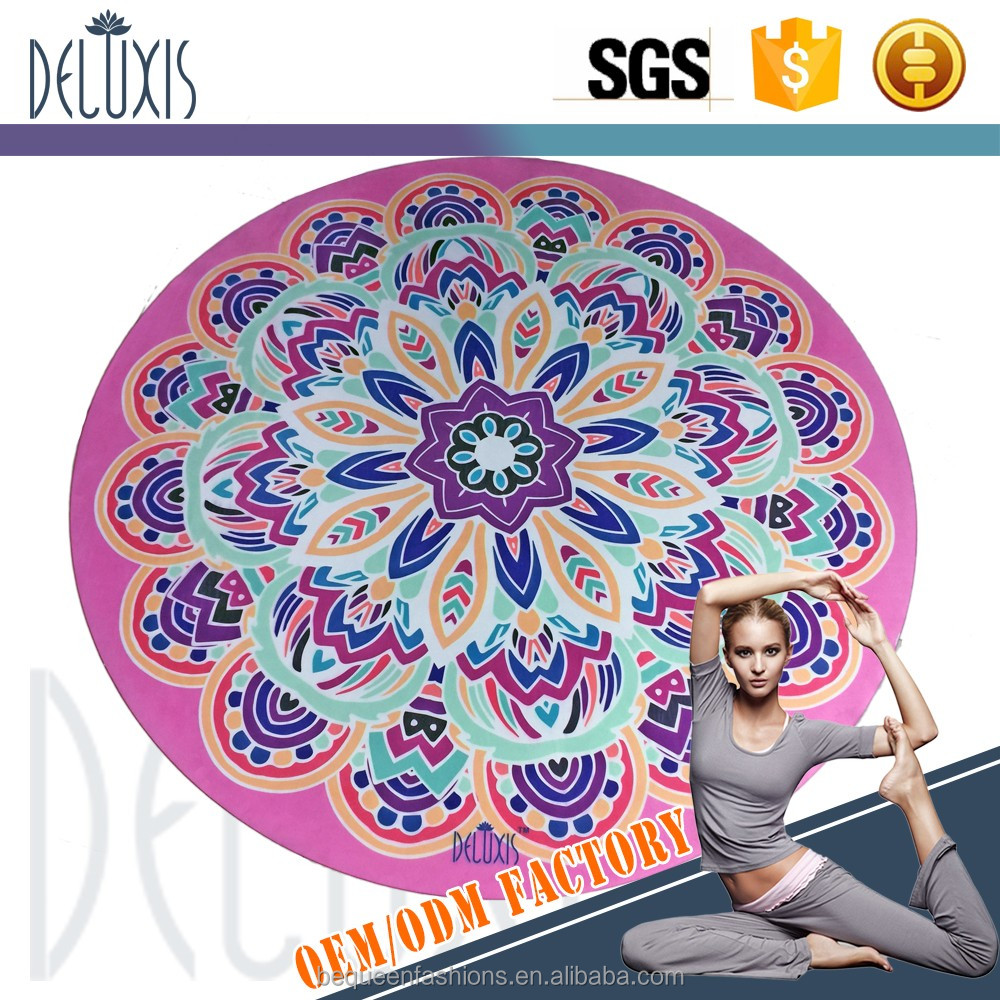 3mm thick round yoga mats anti-slip rubber Eco-friendly best yoga mat Manufacturer