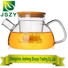 800ML Bamboo Lid Glass Teapot With Infuser - Borosilicate Glass