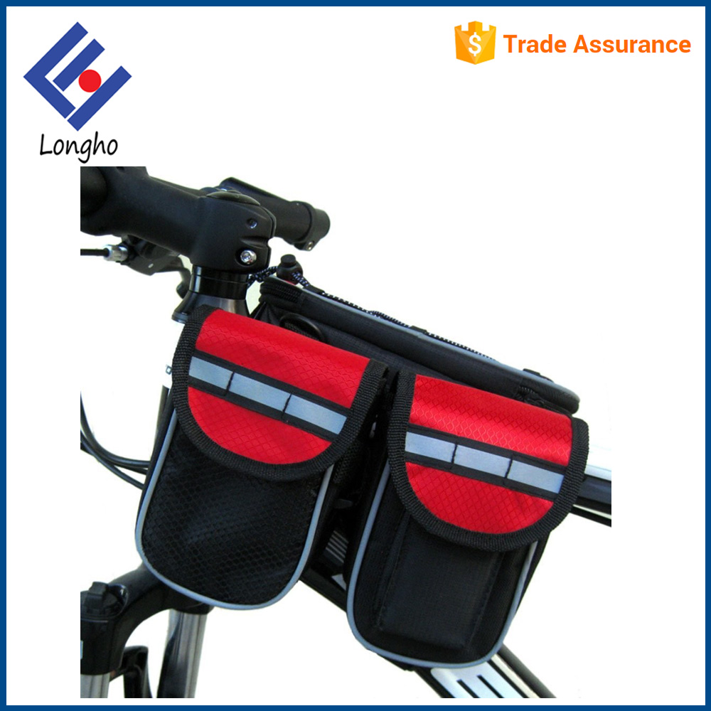 Bicycle bag of front Frame Tube Pannier Bag with bike Handlebar Bag